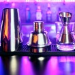Shaker and bar inventory — Stock Photo