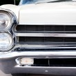 Classic old car close-up front left view — Stock Photo #9889857