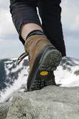 Mountain boots — Stock Photo
