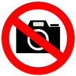 No photo camera sign - 图库照片