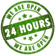 Open 24 hours — Foto Stock