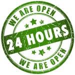 24 時間オープンします。 — ストック写真