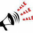 Sale announcement symbol — Stock Photo