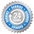 Stock Photo: Service 24 hours token