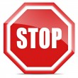 Stop glossy sign - Stock Photo