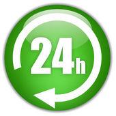 24 小时开放 — 图库照片
