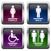 Icone di bagno — Foto Stock