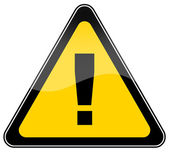 Warning danger sign — Stock Photo