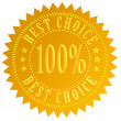 Best choice seal — Stock Photo #10170135