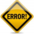 Error sign — Stock Photo