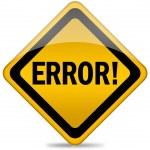 Error sign — Stock Photo