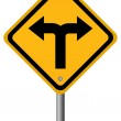 Crossroads sign — Stock Photo