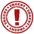 Urgent red ink stamp — Stock Photo