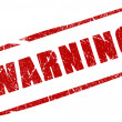 Warning stamp — Stock Photo #10665820