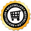bestseller label — Stock Photo