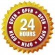 Open twenty four hours — Stock Photo #10666056