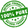 100 pure natural stamp — Stock Photo #10666098