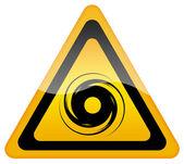 Hurricane warning sign — Stock Photo
