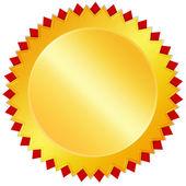 Blank golden award medal — Stock Photo