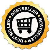 Bestseller label — Stock Photo