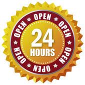 öppna tjugofyra timmar — Stockfoto