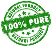 100 pure natural stamp — Stock Photo