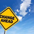 Change ahead sign — Stock Photo #8959401