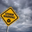 Stock Photo: Strom warning sign