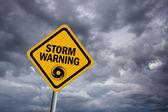 Strom warning sign — Stock Photo
