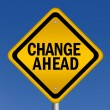 Change ahead — Foto Stock