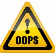 Oops sign — Stock Photo #9125943