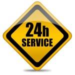 Twenty four hour service — Stock Photo