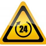 Twenty four hour sign — Stock Photo