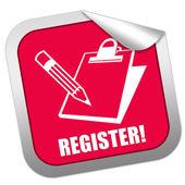 Registrieren-aufkleber — Stockfoto