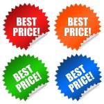 Best price stickers — Stock Photo #9199869