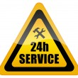24 hour service - Stock Photo