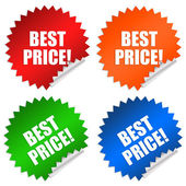 Best price stickers — Stock Photo