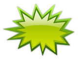 Green boom icon — Stock Photo