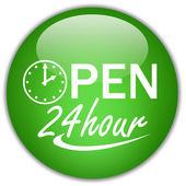 Open twenty four hour — Stock Photo