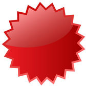 Red star icon — Stock Photo