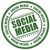 Sociala medier stämpel — Stockfoto