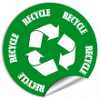 Recycle sticker — Stock Photo