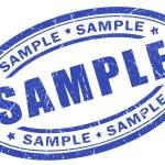 Sample stamp — Stock Photo