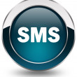 Stock Photo: Sms button