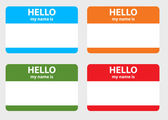 Hello my name card — Stockfoto