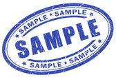 Pieczęć próbki — Zdjęcie stockowe