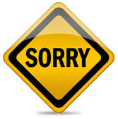 Sorry sign — Stock Photo