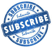 Subscribe stamp — Stock Photo
