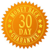 30 day money back guarantee — Stock Photo