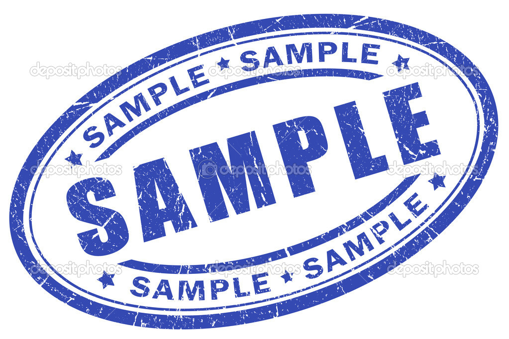 Sample stamp illustration — Stock Photo #9382442